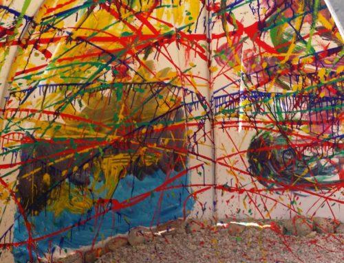 Dal nero al colore, l'arte come strumento e linguaggio nei percorsi della salute mentale, il collettivo Borderart alla manifestazione Land Art Furlo