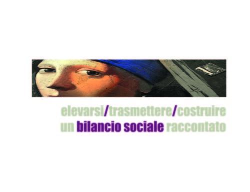IO MI SBILANCIO, bilancio sociale narrato  2017